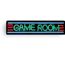 Neon Sign - Game Room Canvas Print