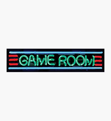 Neon Sign - Game Room Photographic Print