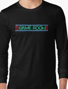 Neon Sign - Game Room Long Sleeve T-Shirt