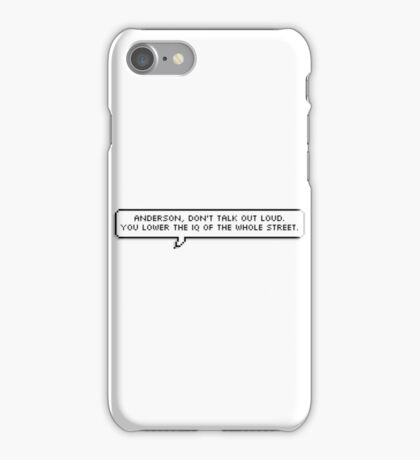 Sherlock Quote Pixel Text iPhone Case/Skin