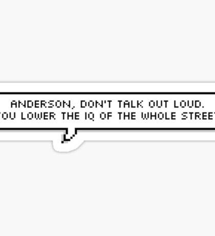 Sherlock Quote Pixel Text Sticker
