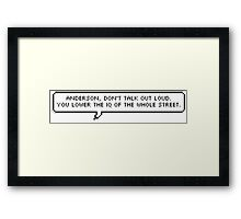 Sherlock Quote Pixel Text Framed Print