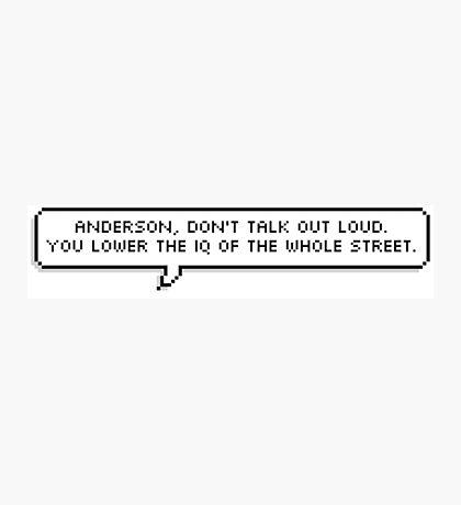 Sherlock Quote Pixel Text Photographic Print