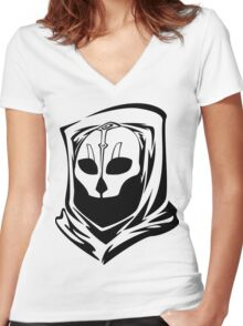 Mask of Nihilus Women's Fitted V-Neck T-Shirt