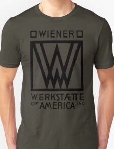 Wiener Werkstaette of America art black and white T-Shirt