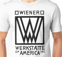 Wiener Werkstaette of America art black and white Unisex T-Shirt