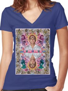 The Ascension of Britney to Punk Goddesshood Women's Fitted V-Neck T-Shirt