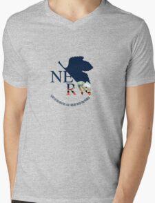 NERV End of Evangelion  Mens V-Neck T-Shirt