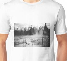 Geysers at Yellowstone with Trees  Unisex T-Shirt