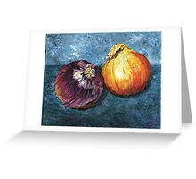 Onion painting Greeting Card