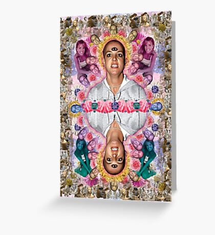 The Ascension of Britney to Punk Goddesshood Greeting Card