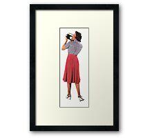 camera woman, Vintage Collage Framed Print