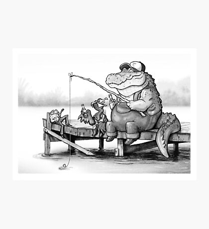 Fishing Buddies Photographic Print