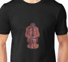 Nude seated man Unisex T-Shirt