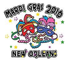 2016 Mardi Gras New Orleans 2016 NOLA Photographic Print
