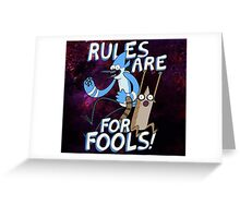 Rules are for FOOLS Greeting Card