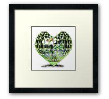 Flower in the heart by Bluesax Framed Print
