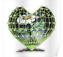 Flower in the heart by Bluesax Poster