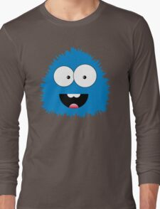 Funny cartoon blue monster Long Sleeve T-Shirt
