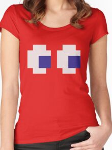Retro Game Ghost Women's Fitted Scoop T-Shirt