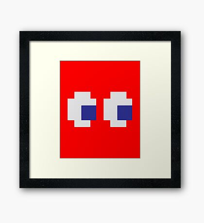 Retro Game Ghost Framed Print