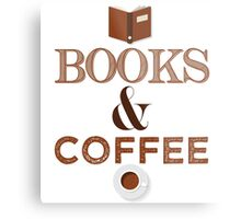 Coffee & Books  Metal Print