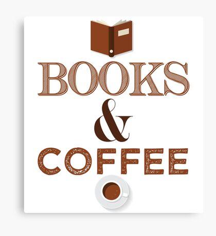 Coffee & Books  Canvas Print