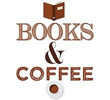 Coffee & Books  Photographic Print