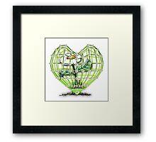 Heart Flower by Bluesax Framed Print