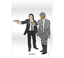 Jules and Vincent from Pulp Fiction Typography Quote Design Poster