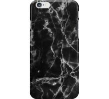 Black marble pattern iPhone Case/Skin