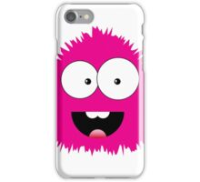 Funny cartoon pink monster iPhone Case/Skin