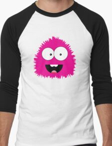 Funny cartoon pink monster Men's Baseball ¾ T-Shirt