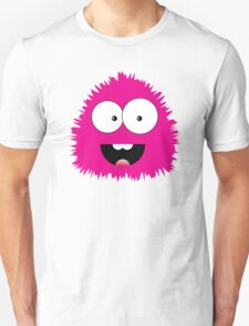 Funny cartoon pink monster Unisex T-Shirt