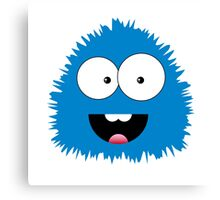 Funny cartoon blue monster Canvas Print