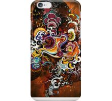 abstract peacock iPhone Case/Skin