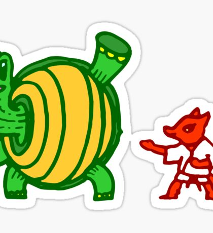 Turtle vs Fox Sticker