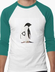"""Ubuntu"" Penguin tattoo Men's Baseball ¾ T-Shirt"