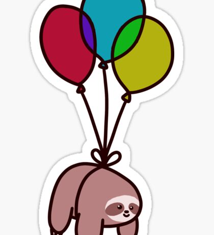 Balloon Sloth Sticker