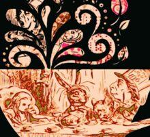 Alice In Wonderland Teaparty Sticker