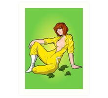 April Unzipped Art Print