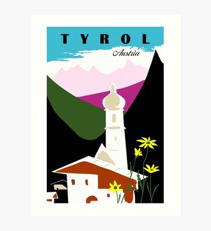 Retro vintage Tyrol Austria travel advertising Art Print