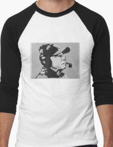 Tom Coughlin Portrait Men's Baseball ¾ T-Shirt