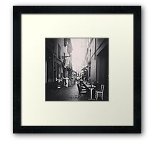 Quiet Street Framed Print