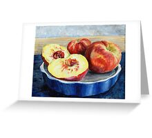 Peach Painting Greeting Card