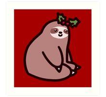 Holly Sloth Art Print