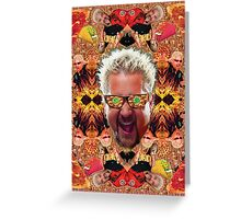 God Guy Fieri's Hot Dog Diggityverse Greeting Card