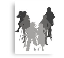 Tales of the Abyss cast silhouette Canvas Print