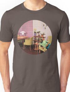 Hanging out at Paul's place, Vintage Collage Unisex T-Shirt