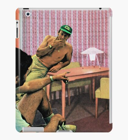 Hanging out at Paul's place, Vintage Collage iPad Case/Skin